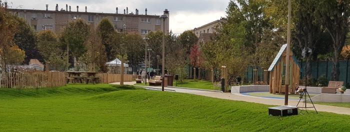 Pré-inauguration du parc traversant